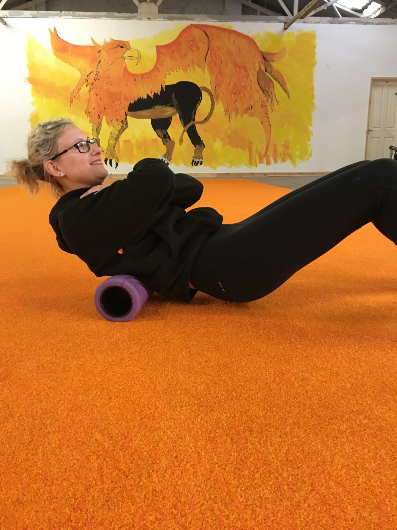 foam rolling / exercise